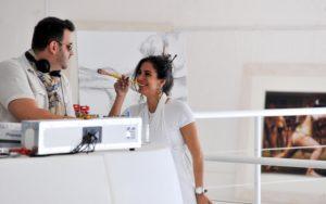 Artista brasileira e DJ apresentam a Margot Jabbour Art  Gallery