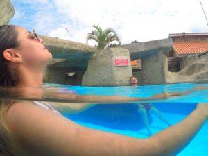 Com piscinas aquecidas a 40 graus, Magic City proporciona lazer no inverno